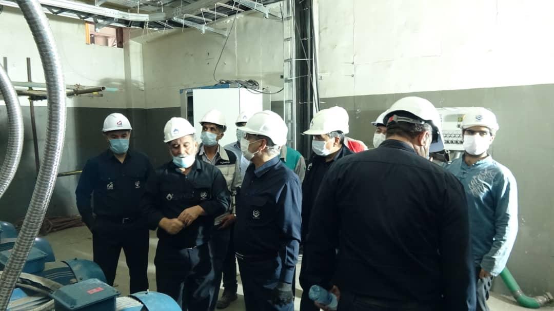 بازدید مدیرعامل محترم میدکو از پروژه های دردست اجرا در مجتمع فولاد بوتیا(یکم مهرماه )